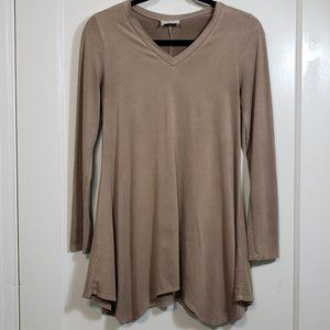 Black Bead micro-suede long sleeved tunic Size Sm.